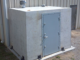 6 x 8 Concrete Safe Room Go Hausner